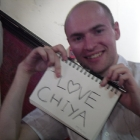 Phil with <3 Chiya sign.