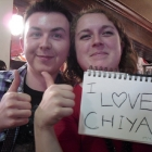 [Unknown] and [Unknown] with <3 Chiya sign.