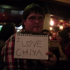 Chiya with the <3 Chiya sign. (Hey whut?)