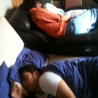 Southrop and Jecht sleeping together.